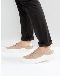 ASOS - Trainers In Stone With White Wrap - Lyst