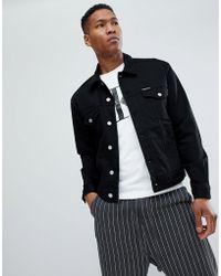 Calvin Klein - Stretch Denim Jacket With Logo Back Patch - Lyst