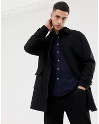 Only & Sons - Oversized Wool Overcoat With Patch Pocket - Lyst