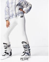 ASOS 4505 Petite Ski Skinny Ski Pants With Stirrup - White