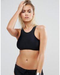 Body Glove - High Neck Lace Up Crop Bikini Top - Lyst