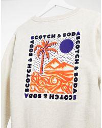 Maison Scotch Graphic Back Print Sweatshirt - White