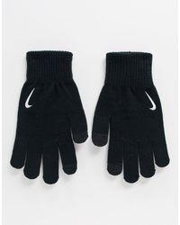 Nike Черные Трикотажные Перчатки Running-черный
