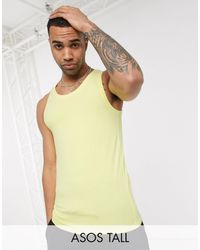 ASOS Tall Organic Muscle Fit Vest - Yellow