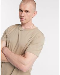 Weekday T-shirt comoda beige - Neutro