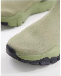 ASOS Шалфейно-зеленые Трикотажные Кроссовки-носки - Зеленый
