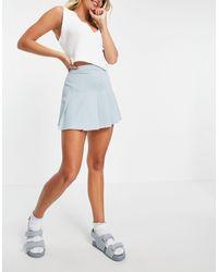 Pull&Bear Tennis Skirt - Blue