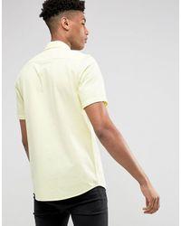 ASOS TALL – Strukturiertes Hemd - Gelb