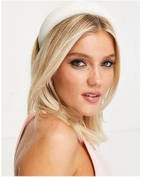 Miss Selfridge Padded Headband - White