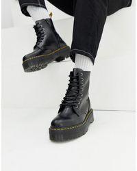 Dr. Martens - Черные Ботинки На Платформе С 8 Парами Люверсов Jadon-черный - Lyst