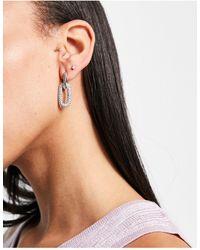 ALDO Relindra Embellished Drop Link Earrings - Metallic
