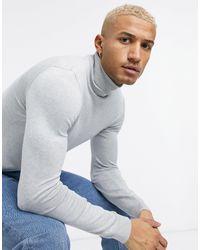 Pull&Bear Roll-neck Sweater - Gray