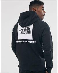 The North Face - Худи Черного Цвета С Рукавами Реглан -черный - Lyst
