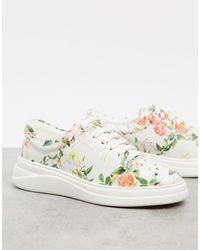 Fiorelli – Anouk Schnürschuhe mit Blumenmuster - Mehrfarbig