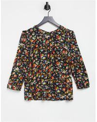 Warehouse Floral Frill Detail Top - Multicolour