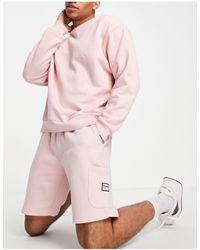 Jack & Jones Розовые Трикотажные Шорты Карго От Комплекта Originals-розовый Цвет
