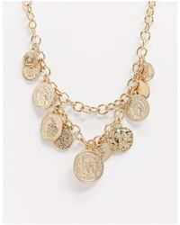 Miss Selfridge Collar dorado - Metálico
