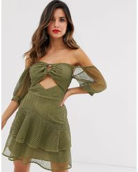 ASOS Bardot Mini Dress - Green
