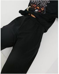 Miss Selfridge Pantaloni scuba neri con fondo ampio - Nero