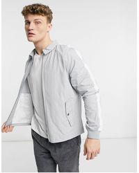 Native Youth Harrington Jacket With Side Pockets - Gray