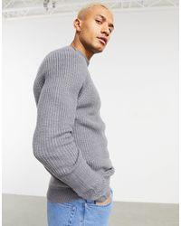 Pull&Bear Mock Neck Sweater - Gray