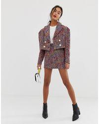 ASOS Pop Boucle Mini Suit Skirt - Multicolour