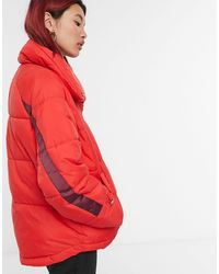 Y.A.S Acapella Short Padded Jacket - Red