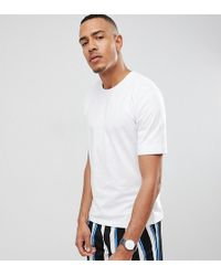 SELECTED - Drop Shoulder T-shirt In Heavy Cotton - Lyst
