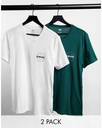 Levi's Exclusief Bij Asos - Set Van 2 T-shirts Met Modern Vintage Cirkellogo - Meerkleurig