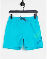 Nike Shorts en azul turquesa - Verde