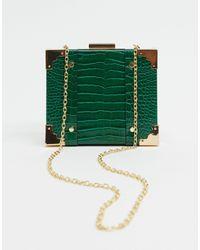 Glamorous Зеленая Сумка Через Плечо Из Искусственной Крокодиловой Кожи -зеленый