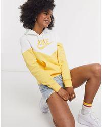 Nike Короткий Свитшот В Винтажном Стиле -желтый