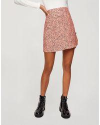 Miss Selfridge Mini Skirt With Frill Hem - Pink