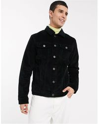 SELECTED Cord Denim Jacket - Black
