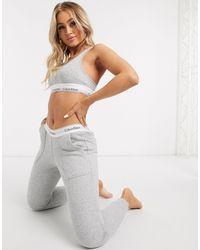 Calvin Klein Joggingbroek Met Tailleband Met Logo - Grijs