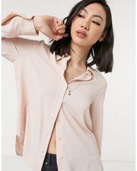 Mango Button Front Shirt - Pink