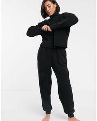 ASOS - Удобный Флисовый Комплект Одежды Для Дома Из Двух Частей С Воротником-стойкой И Молнией - Lyst