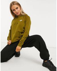 Nike Худи Цвета Хаки Plus-зеленый