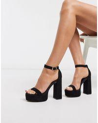 ASOS Noon Platform Block Heeled Sandals - Black