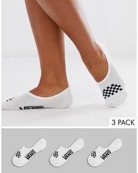 Vans Checkerboard White/black Footsie Socks