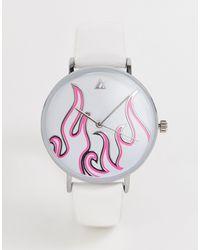 ASOS Белые Часы С Отделкой В Виде Пламени - Многоцветный