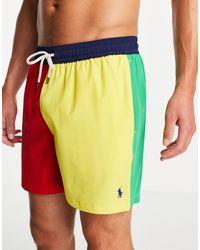 Polo Ralph Lauren Разноцветные Шорты Для Плавания В Стиле Колор-блок С Логотипом В Виде Игрока В Поло Traveler-multi - Многоцветный