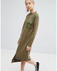 Daisy Street - Reconstructed Military Dress - Lyst