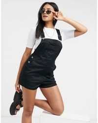 Volcom Fro Chickle Dungaree Playsuit - Black