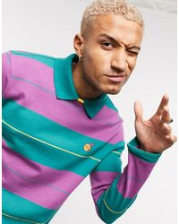 PUMA X The Hundreds Striped Long Sleeve Rugby Polo - Multicolour