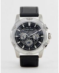 Police - Black Grid Watch With Multi Functional Dial - Lyst
