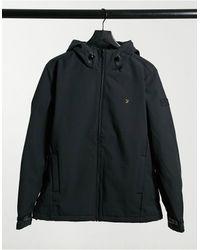 Farah Черная Мягкая Куртка Bective-черный