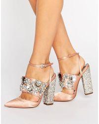 ASOS - Asos Papaya Bridal Embellished Heels - Lyst
