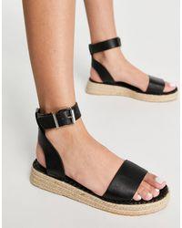 Schuh Victoria Flatform Espadrille Sandals - Black