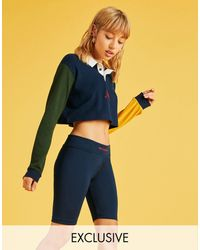 New Balance Exclusivité ASOS - Short legging - Bleu